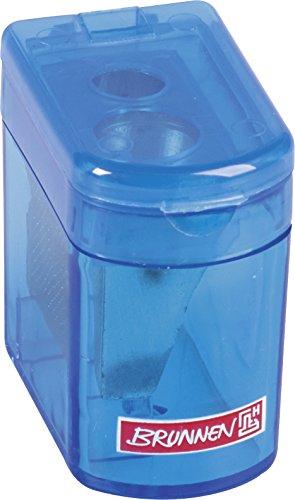 Brunnen 102983833 Dosenspitzer Klicki Colour Code (4 x 2,5 x 3,7 cm, mit Staubverschluss, Doppelspitzer) blau / azur
