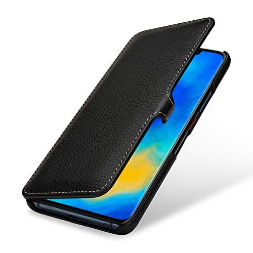 StilGut Lederhülle für Huawei Mate 20 Pro Book Type, schwarz mit Clip