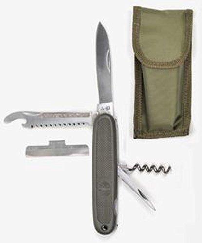 Multifunktionales Bundeswehr Taschenmesser mit Bundesadler Oliv mit Gürteltasche Armeemesser