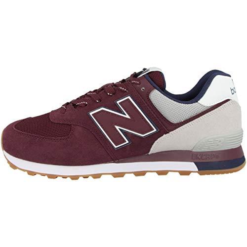 Zapatillas deportivas New Balance 574 V2 para hombre, Rojo (Nb Borgoña/Nube de lluvia), 41 EU