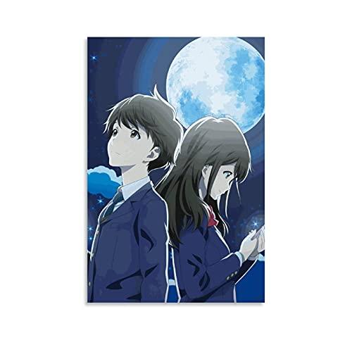 WLLSF Póster de anime de Tsuki Ga Kirei y arte de pared con impresión moderna para dormitorio familiar, 30 x 45 cm