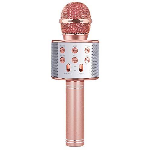 Jouets Filles Enfants 5-12 Ans, Cadeaux Anniversaire 6 7 8 9 10 Ans Fille Micro Enfant 8-10 An Jouet Microphone Bluetooth Sans Fille 5-11 Ans Cadeau Filles 7 8 9 10 11 12 Enfants Filles Jouet Musique