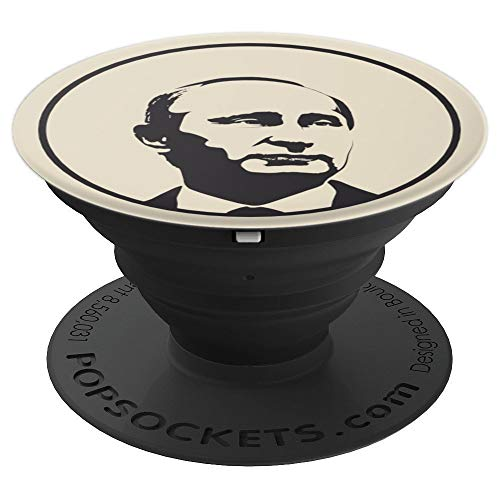 Putin Portrait Russia Moscow Slavic Soviet Union CCCP USSR PopSockets Grip and Stand for Phones and Tablets