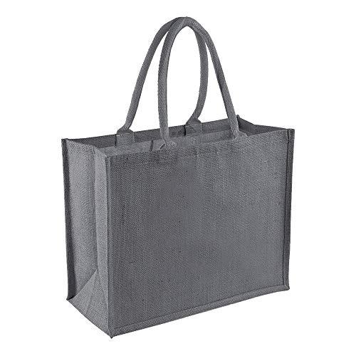 Westford Mill Jutetasche/Einkaufstasche, 21 Liter (2 Stück/Packung) (Einheitsgröße) (Graphite Grau/)