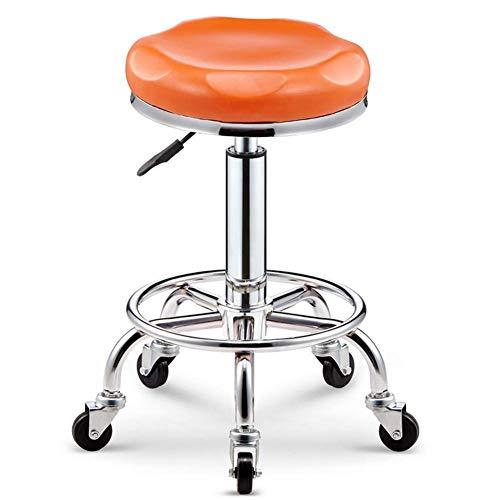 Accueil - Sedia multifunzionale con telaio in acciaio inox, altezza regolabile, girevole, sedia da bar, sedia da ufficio, per parrucchiere