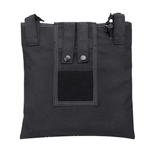 CLISPEED Molle Utilitaire Pochette Sac de Recyclage Gilet Accessoire Divers Articles de Stockage Porte-Équipement de Terrain pour CS Jeu Paintball Chasse (Noir)