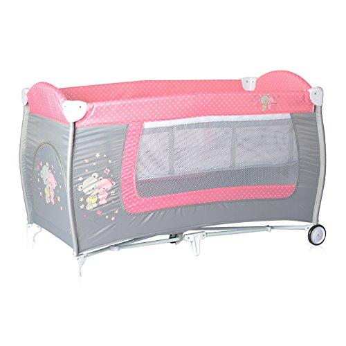 Lorelli 10080361817 Lit Parapluie à 2 Niveaux Danny 2 Rose