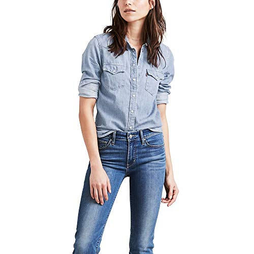 Levi's Women's The Ultimate Western Shirt, Small talk, X-Large