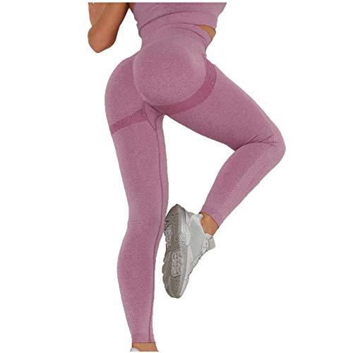 VJGOAL Mujer Leggings Seamless Mallas Cintura Alta Super Suave para Yoga Gym Fitness Running Deportivo Yoga Leggings
