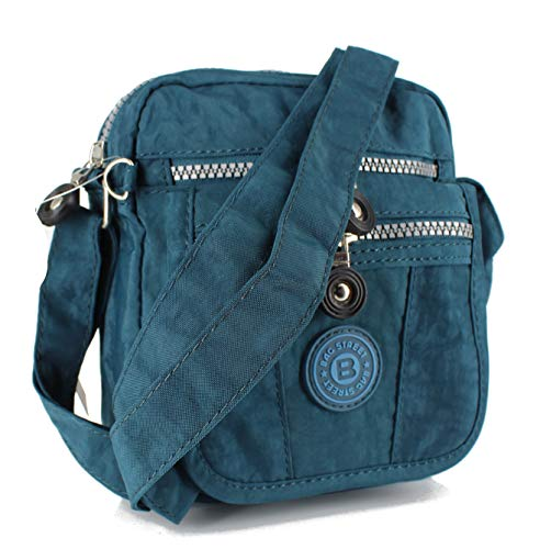 Jennifer Jones Handtasche / Schultertasche / UmhAngetasche klein, Blau, S