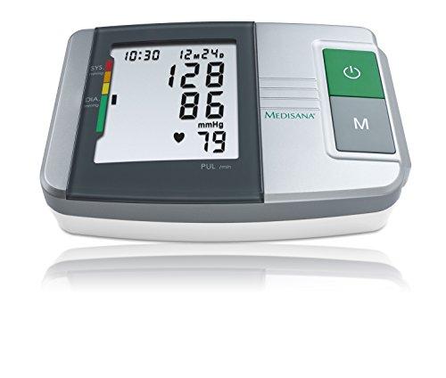Medisana MTS tensiomètre à bras, affichage de l'arythmie, échelle de couleurs des feux de circulation de l'OMS, une mesure précise de la tension artérielle et du pouls avec fonction de mémoire