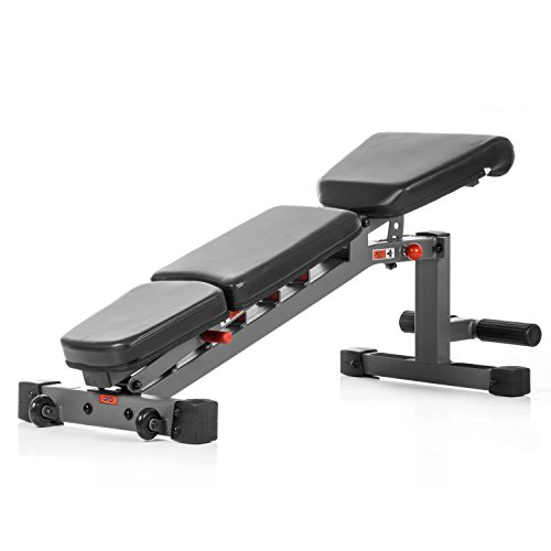 XMark 7630 Weight Bench, 1500 lb Weight Capacity Adjustable Weight Bench, Workout Bench, Heavy Duty Flat Incline Decline Bench, Sit Up Bench, Incline Bench, Dumbbell Bench