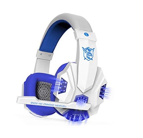 Acoud Gaming Headset 360° Stereo Gaming Headset Surround Sound Over-Ear Kopfhörer mit Geräuschunterdrückung Mikrofon mit LED Licht und weichen Ohrpols.