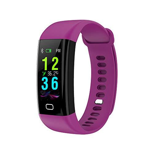 DUTUI Sportuhr, Multisportmodus-Kalorienverbrauchsuhr wasserdichte Bluetooth-Uhr, Angenehm Zu Tragen,Lila