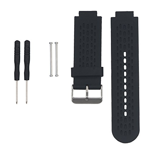 AUTRUN Band for Garmin Approach S2 /S4, Silicone Wristband Replacement Watch Band for Garmin Approach S2/S4 GPS Golf Watch (Black)