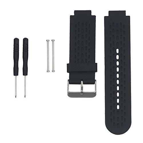 KOMI Correa de reloj de repuesto para Garmin Vivoactive, correa de silicona deportiva para Garmin Approach S2/S4 GPS Golf Watch (negro)
