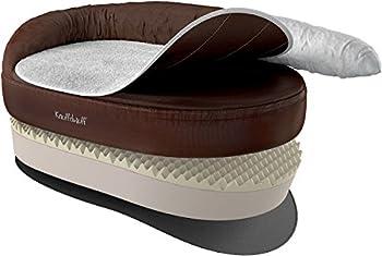 Knuffelwuff Panier orthopédique pour chien lit pour chien Jessy marron 73 x 50cm