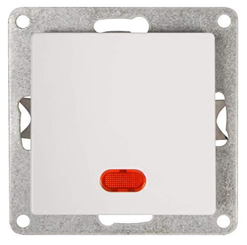 MC POWER - Schalter | CUP | 250V~/10A, UP, weiß, poliert, mit Kontroll-Leuchte