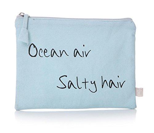 Junction 18 Lisa Buckridge Coastal Collection Sky Blue Wash Trousse de Maquillage de Voyage – Ocean Air Salty Hair
