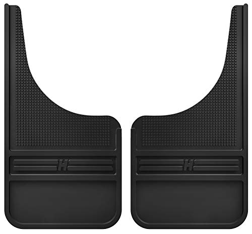 Husky Liners - 55000 Rubber Front Mud Flaps - 12IN w/o Weight, Black
