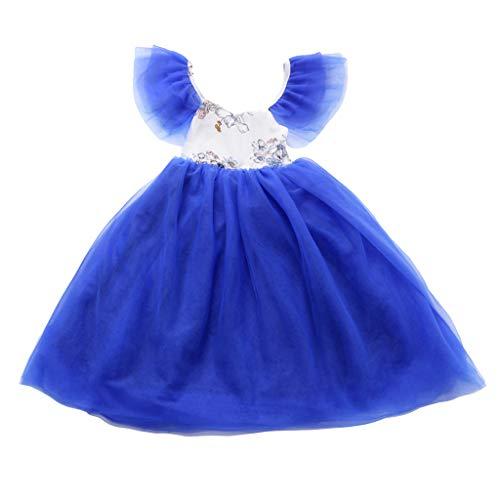 Julhold Peuter Baby Kids Meisjes Leuke Mode Elegante Bloemen Tule Patchwork Cos Prinses Jurk Feestjurken 0-4 Jaar