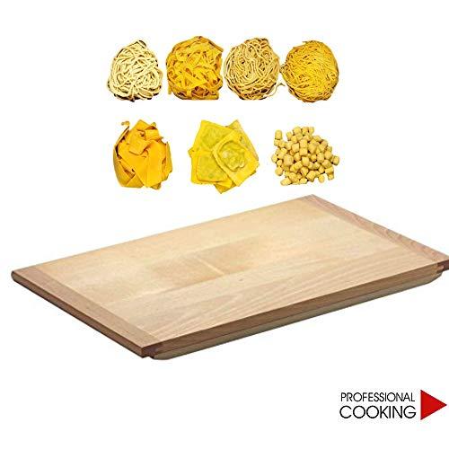 Professional Cooking ASSE tavola Pasta spianatoia con Battente Anti Scivolo in Legno di Tiglio (cm. 60x100x2)