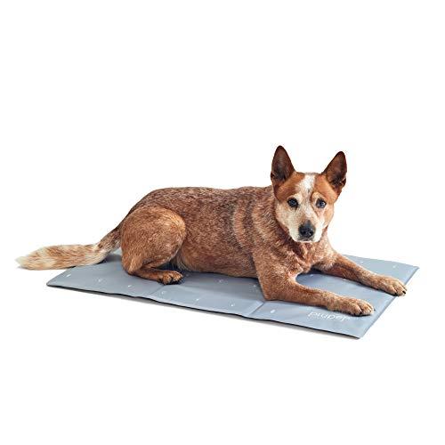 PiuPet Manta refrescante Perro - 90 x 50 cm - Esterilla refrigerante Perros - Tambin es Adecuado para Perros y Gatos Grandes - Color Gris
