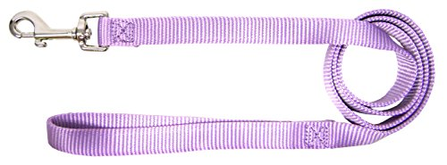 Hamilton Single Thick Deluxe Nylon Lead with Swivel Snap, 5/8-Inch by 6-Feet, Lavender