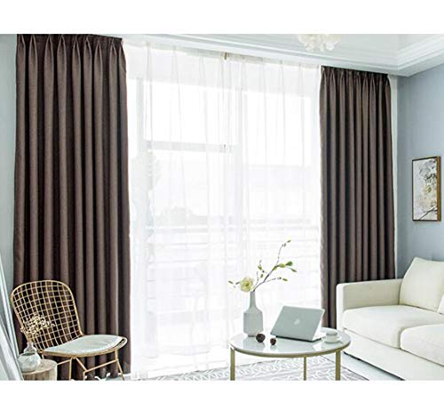 SXCDD Volltonfarbe Baumwoll-leinen Tuch Vorhang,Verdunklungsvorhänge Für Schlafzimmer Balkon Bay-Fenster,1stk D 350x270cm (138x106inch)