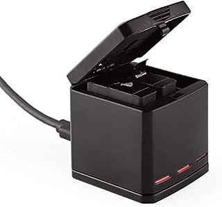 TELESIN Caja de almacenamiento de batería y cargador triple para GoPro Hero 6 GoPro Hero 53 Channel Caja de batería de baterías y organizador para Hero 6/5 Black Baterías