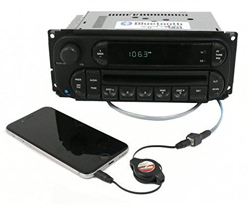 1 Factory Radio AM FM CD Bluetooth Pigtail Aux Compatible With 2002-2007 Chrysler Jeep Dodge RBK Digital P05091506AG