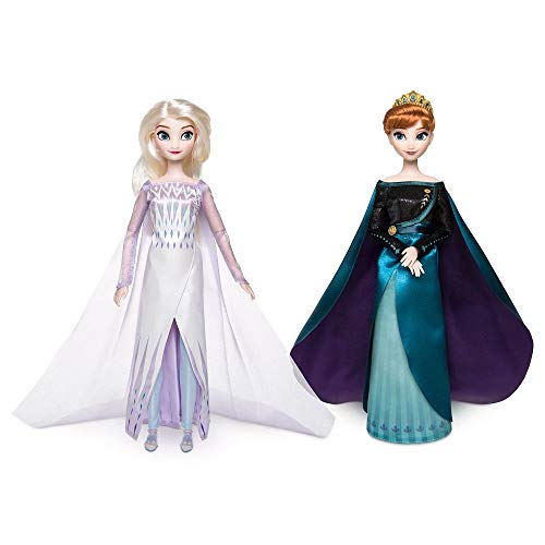 Disney Queen Anna and Snow Queen Elsa Classic Doll Set- Frozen 2- 11 1/2'' H