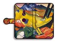 手帳型 スマホケース【世界の名画】 マルク ☆抽象画☆ art 名画 絵画 アート 美術 Google Pixel Xperia Galaxy AQUOS HUAWEI OPPO (Xperia XZ3, 黄色い牛)