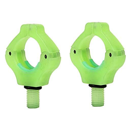 Star Eleven 2 Stück Silikon Rutenauflagen/Rutenauflagen/Rückenlehnen Kunststoff Angelrutenhalter für die Verwendung mit Rod Pods etc. Passend für Fast alle Angelruten, grün