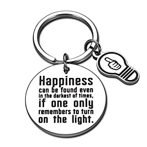 """♥ Inspirational Harry Potter Fans Gift ♥: Deeply engraved positive quotes- """" Happiness can be found even in the darkest of times, if only one remembers to turn on the light """", the classic lines said by Albus Dumbledore , what an awesome present for b..."""