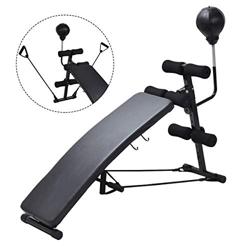 Gymax Sit-up Bench With Speed Ball