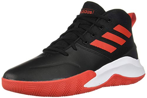 adidas Men's OwnTheGame Wide Basketball Shoe, Black/Active Red/White, 10.5 W US