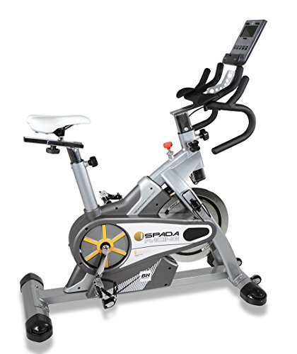 BH Fitness - Bicicleta Indoor i.spada Racing Dual + Dual Kit