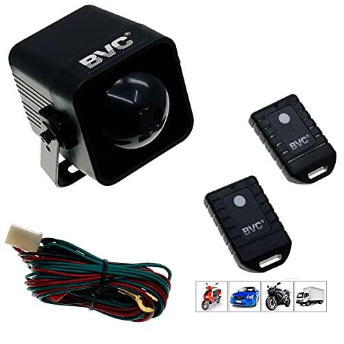 BVC JG-800 Alarme universelle antivol avec télécommande pour voiture et moto