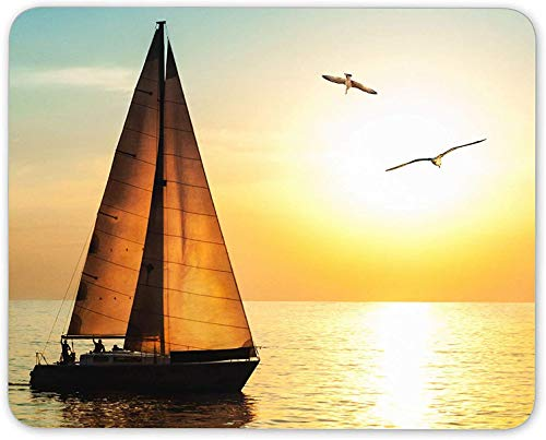 Mauspad, Sonnenuntergang Segeln ...