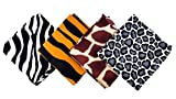 Playscene Pirate Bandanna's for Children or Adults (12 Animal Print)