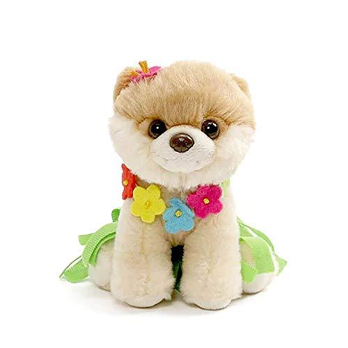 GUND Itty Bitty Boo Hula Plush Stuffed Dog, 5', Multicolor