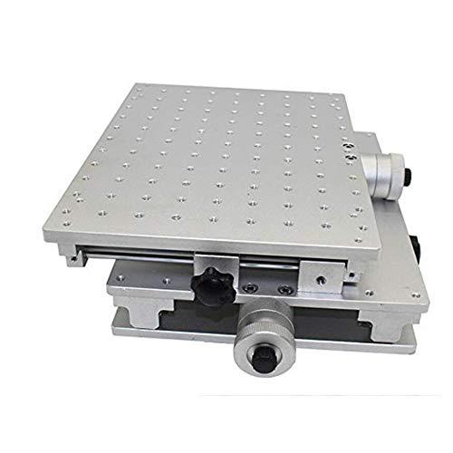 Isunking Beweglicher Tisch mit 2 Achsen, Tragbarer Tisch 2D Werkbänke XY für Laser Markierungs Graviermaschine 220 * 300mm (XY-Axis)