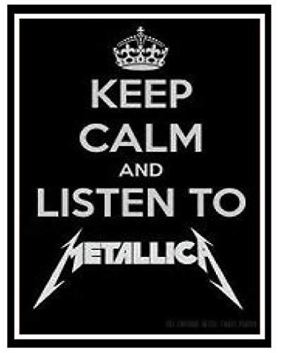 Inga Metallica (Heavy Metal Rock Band) Divertida Placa con Texto en in