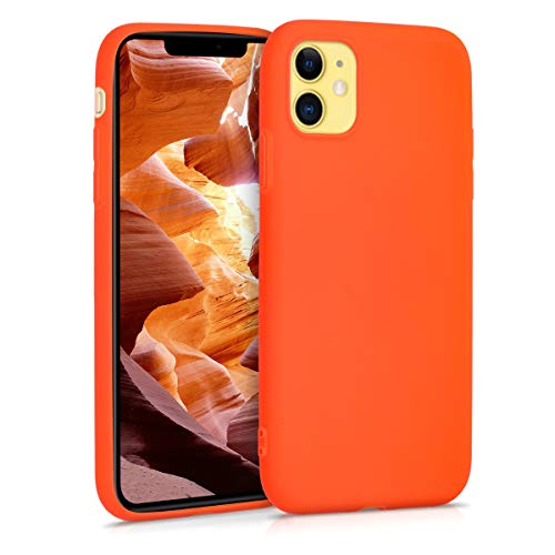 kwmobile Hülle kompatibel mit Apple iPhone 11 - Handyhülle - Handy Hülle in Neon Orange