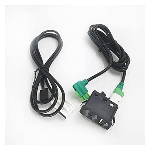Development Cable de arnés de Cables de Enchufe de Interruptor aux-in Auxiliar Adaptador Apto for BMW 3 5 E87 E90 E91 E92 X5 (Color Name : Full Set)