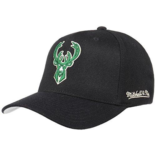Mitchell & Ness Milwaukee Bucks INTL132 110 Curved Eazy NBA Flexfit Snapback Cap One Size