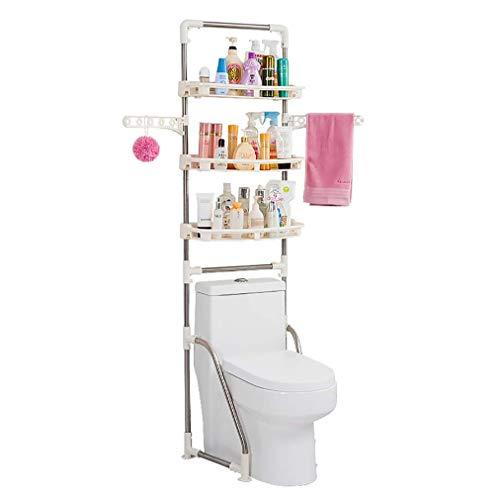 Multifunctionele Verstelbare RVS Over Toilet Opslag met Hangers Handdoek Rack Verstelbare Versterkte Ventilator Voet Badkamer Toiletplanken Ruimte Besparen hgjfgdfsdfsd