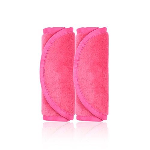 Make-Up Entferner Tuch, 2er Set Abschminktücher, Abschminken und Reinigen nur mit Wasser ohne Chemie - hypoallergen & waschbar & wiederverwendbar Mikrofaser Gesichtsreinigungstuch (Rosenrot)