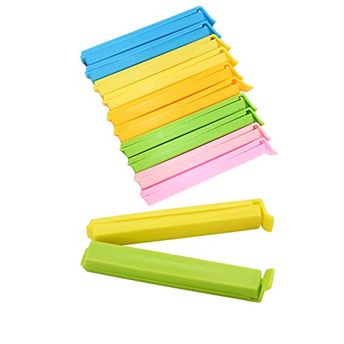 20pc Bag Clips Sealer Assorted Colors Food Sealing Clips